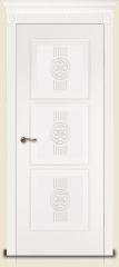 Дверь мебель массив Мадрид 3 Эмаль белая