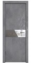 Дверь межкомнатная DO-509 Бетон темный/Зеркало
