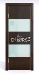 Дверь межкомнатная DO-508 Венге глянец/стекло Белое