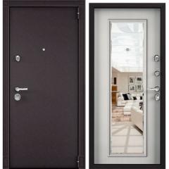 Дверь TOREX SUPER OMEGA 100 RAL 8019 / Шамбори светлый с зеркалом