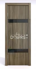 Дверь межкомнатная DO-502 Сосна глянец/стекло Черное