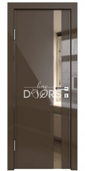 ШИ дверь DO-607 Шоколад глянец/зеркало Бронза