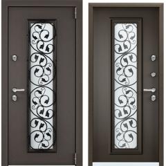 Дверь TOREX SNEGIR 55C-03 Черный муар металлик / Молочный шоколад