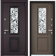 Дверь TOREX SNEGIR 55C-02 RAL 8019 / СТ Мокко матовый