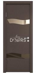 Дверь межкомнатная DO-503 Бронза/зеркало Бронза