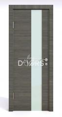 ШИ дверь DO-604 Ольха темная/стекло Белое