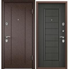 Дверь TOREX DELTA-M 10 COMBO Медный антик / ПВХ Каштан темный