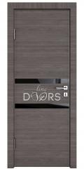 ШИ дверь DO-613 Ольха темная/стекло Черное
