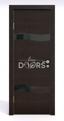 ШИ дверь DO-603 Венге горизонтальный/стекло Черное
