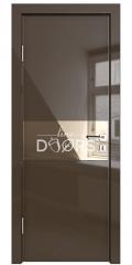 Дверь межкомнатная DO-501 Шоколад глянец/зеркало Бронза
