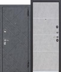 Входная дверь Ferroni 9 см БРУКЛИН Бетон графит / Бетон пепельный