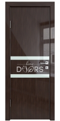 Дверь межкомнатная DO-513 Венге глянец/стекло Белое