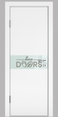 ШИ дверь DO-609 Белый бархат/стекло Белое