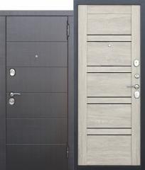 Входная металлическая дверь Ferroni 10,5 см Чикаго Царга дуб шале белый с МДФ панелями