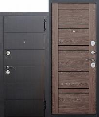 Входная металлическая дверь Ferroni 10,5 см Чикаго Царга дуб шале корица с МДФ панелями
