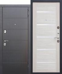 Входная металлическая дверь Ferroni 10,5 см Чикаго Царга Лиственница беж с МДФ панелями