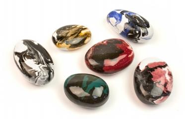 Декоративные керамические камни цветные 14 шт