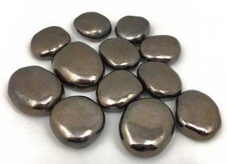 Декоративные керамические камни золотые 14 шт