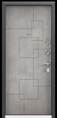 Дверь TOREX DELTA-100 Черный шелк / ПВХ Бетон серый
