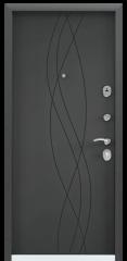 Дверь TOREX DELTA-100 Черный шелк / Темный-пепел ПВХ Темный-пепел