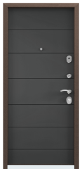 Дверь TOREX DELTA-M 10 Темный-пепел ПВХ Темный-пепел / Темный-пепел ПВХ Темный-пепел
