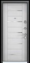 Дверь TOREX DELTA-M 12 COMBO Черный шелк / Вельвет белый поперечный ПВХ Вельвет белый поперечный