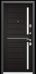 Дверь TOREX DELTA-M 12 COMBO Черный шелк / Венге поперечное ПВХ Венге поперечное