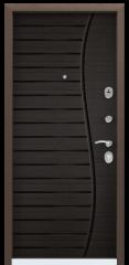 Дверь TOREX DELTA-M 12 Медный антик / Венге поперечное ПВХ Венге поперечное