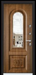 Дверь TOREX SNEGIR 45 RAL 8017 коричневый / Дуб медовый Дуб медовый