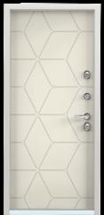 Дверь TOREX SNEGIR 55 Бьянко муар / Слоновая кость ПВХ слоновая кость