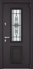 Дверь TOREX SNEGIR 55C-01 RAL 8019 / Молочный шоколад ПВХ молочный шоколад