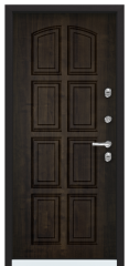 Дверь TOREX SNEGIR 60 RAL 8019 / Дуб мореный Дуб мореный