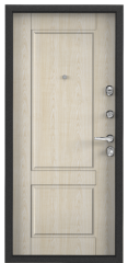 Дверь TOREX SUPER OMEGA 100 Черный муар металлик / Дуб бежевый Дуб бежевый