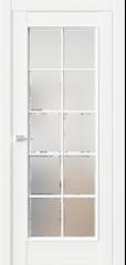 Межкомнатная дверь En2 фацет сатинат белый