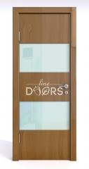 ШИ дверь DO-608 Анегри темный/стекло Белое
