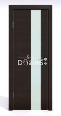 Дверь межкомнатная DO-504 Венге горизонтальный/стекло Белое