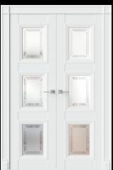 Двустворчатая дверь MSR10 эмаль