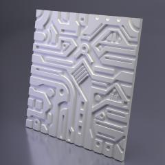 Гипсовая 3D панель EX-MACHINA A 600x600x20 мм