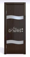 Дверь межкомнатная DO-503 Венге глянец/Снег