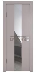 Дверь межкомнатная DO-510 Серый бархат/Зеркало