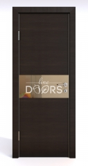 ШИ дверь DO-601 Венге горизонтальный/зеркало Бронза