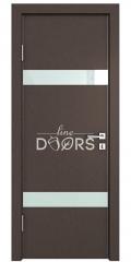 Дверь межкомнатная DO-502 Бронза/стекло Белое