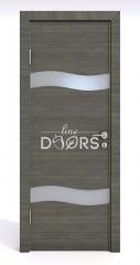 Дверь межкомнатная DO-503 Ольха темная/Снег