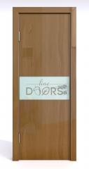 Дверь межкомнатная DO-501 Анегри темный/стекло Белое