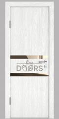 Дверь межкомнатная DO-513 Белый глубокий/зеркало Бронза