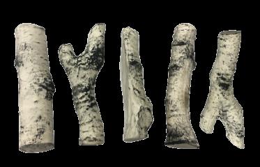 Керамические дрова береза  5 шт