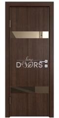 Дверь межкомнатная DO-502 Мокко/зеркало Бронза