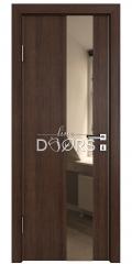 Дверь межкомнатная DO-504 Мокко/зеркало Бронза