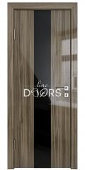 Дверь межкомнатная DO-510 Сосна глянец/стекло Черное
