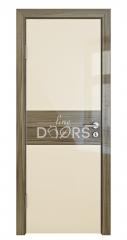 Дверь межкомнатная DO-501 Ваниль глянец/стекло Сосна